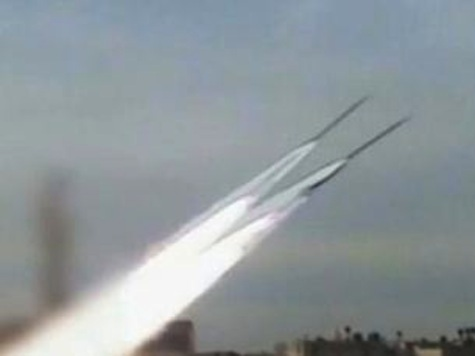 Rocket Launches From Inside The Gaza Strip
