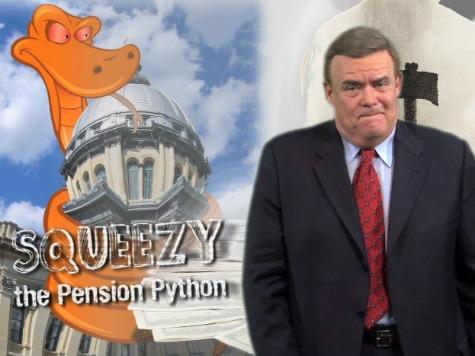 IL Gov. Employs Cartoon Python, 'Squeezy,' to Explain Public Pension Crisis