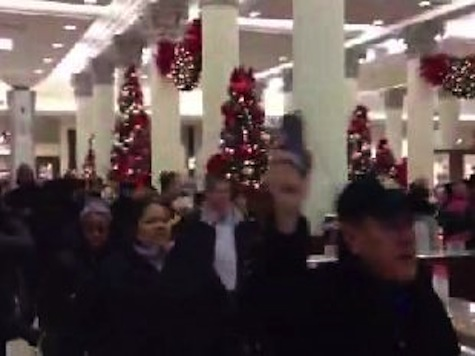Protesting Workers March Through Macy's
