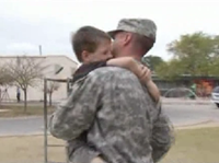 Military father surprises son at school after returning from Persian Gulf