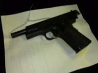 Loaded Semi-Automatic Handgun Found In Case of Frozen Meat
