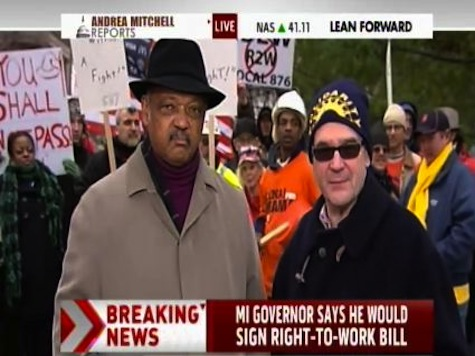 Jesse Jackson Calls For National Strike To Protest Right-to-Work Law