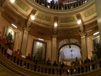 Protesters Scream 'Shut It Down' Inside MI Capitol