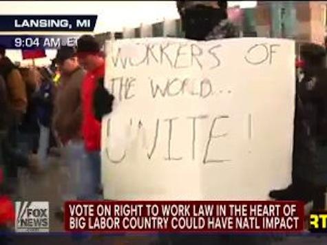 Right-to-Work Showdown Heats Up In Michigan