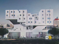 Prefab Modular Units In Skid Row To Provide Housing For Homeless
