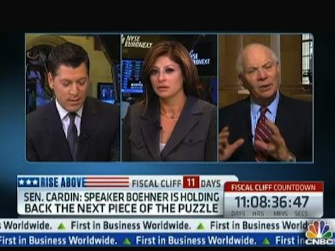 CNBC's Bartiromo Grills Dem Senator on Fiscal Cliff Answer