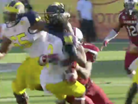 What May Be The Nastiest, Helmet-Popping, Game-Changing Tackle Ever