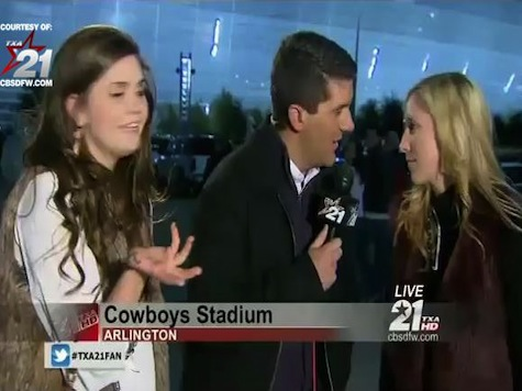 Drunk Texas A&M Fans Interrupt Reporter on Live Local News 2013 Cotton Bowl Coverage
