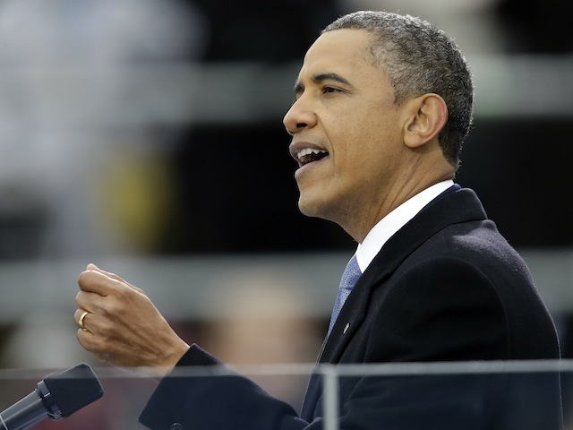 Obama Uses Newtown, Slams 'Name Calling' In Inaugural Address