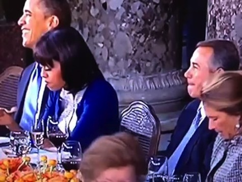 First Lady Rolls Eyes At Boehner During Lunch