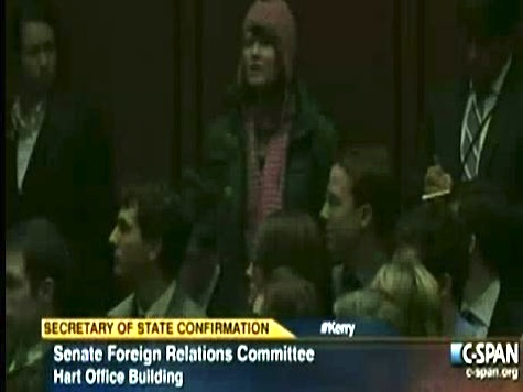 Kerry Confirmation Hearing Interrupted By Anti-War Protester