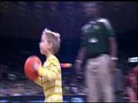 Little Boy Interrupts Basketball Game