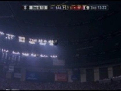 WATCH: Half Of Super Bowl Dome Loses Power