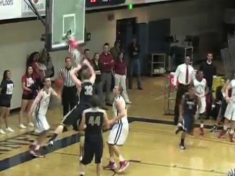 Colorado Mines' Trevor Wages Breaks Backboard On Dunk