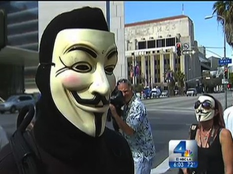 Occupy Holds Support Rally For Alleged Quadruple Murderer Outside LAPD Headquarters