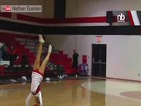WATCH: Cheerleader's Amazing Trick Shot