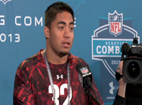 Manti Te'o Addresses Media For First Time