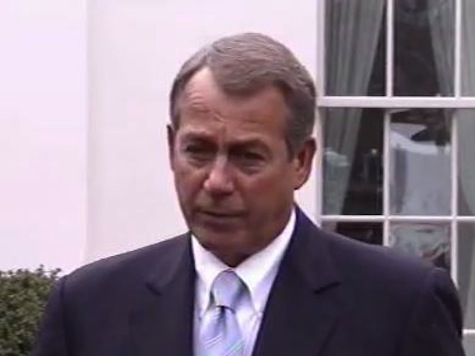 Speaker Boehner: 'Discussion On Revenues Is Over'
