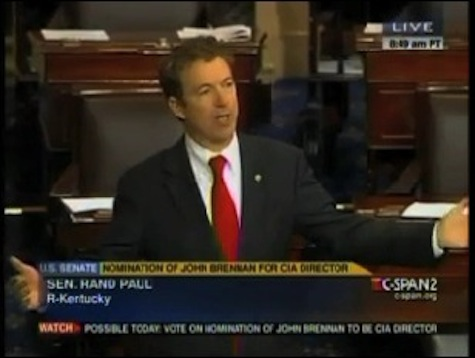 Rand Paul Filibusters Brennan Confirmation