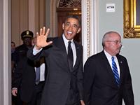 Obama Arrives On Capitol Hill