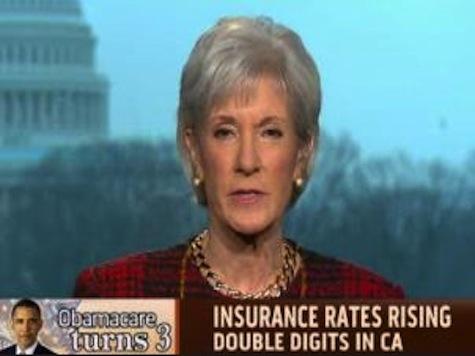 Sebelius: Double-Digit Health Insurance Rate Hikes 'Good News'