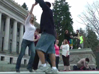 Group Dances On Capitol Steps To Protest Wash. Dance Tax