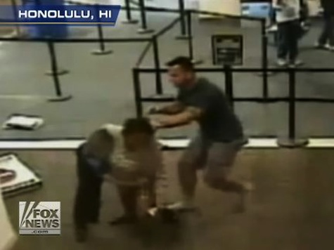 Wild Video: Off-Duty Cop Subdues Woman Attacking TSA