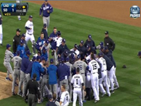 Padres, Dodgers Brawl After Batter's Hit By Pitch