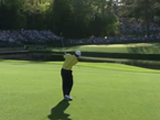 Tiger Bounces Ball Off Flagstaff And Into Water
