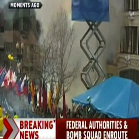 Different Angle Of Boston Marathon Finish Line Explosion