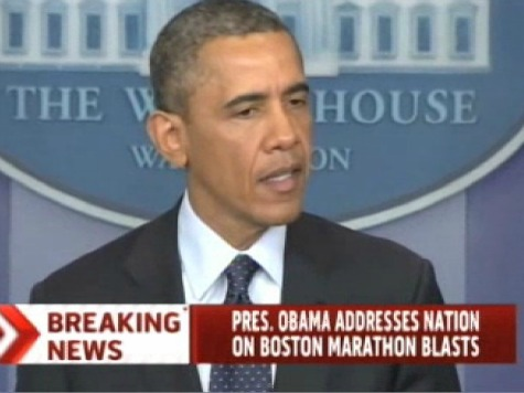 No Mention of 'Terrorism' in Obama's Boston Bombing Statement