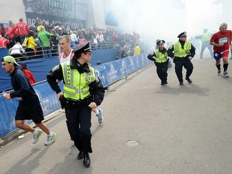 VIDEO: Runners Escape Smoke Of Explosion At Boston Marathon