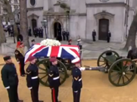 Thatcher's Coffin Makes Its Way To Cathedral