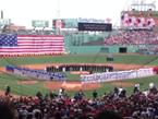 Boston RedSox Crowd Sings National Anthem