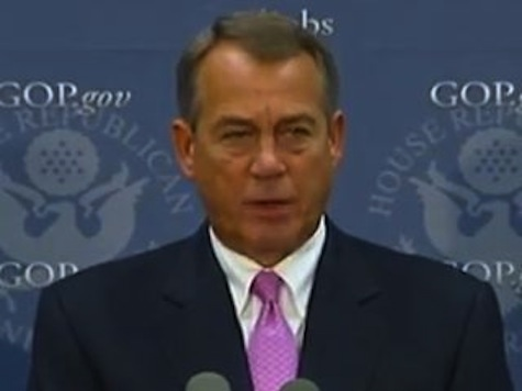 Boehner Voices Concerns About Info Sharing in Bombings