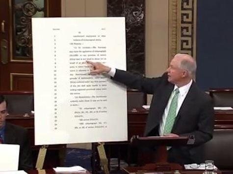 Sessions Fights Immigration Bill On Senate Floor