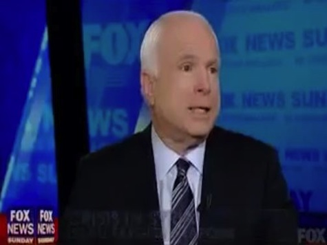 McCain: Obama Wrote 'Red Line' in Disappearing Ink