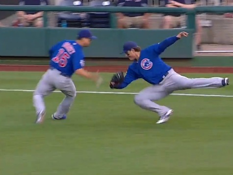 Chicago Cubs' Rizzo Makes Amazing Circus Catch