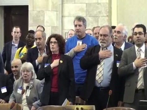 Audience At NJ Gun Hearing Disobeys Senator's Orders, Recites Pledge