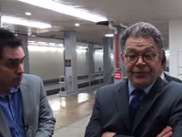 VIDEO: Franken Slams Into Staffer While Dodging Reporter's IRS Question