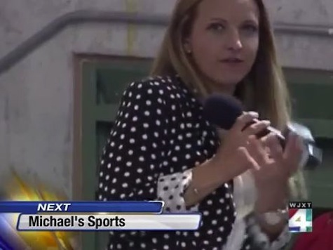 Sideline Reporter Hit By Baseball