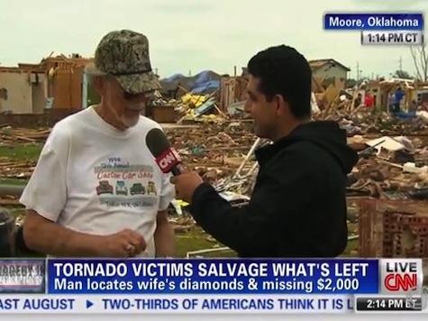 Tornado Survivor Finds Wife's Missing Diamonds, $2,000