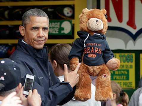After Obama's Five Failed Attempts, Christie Wins President Stuffed Bear