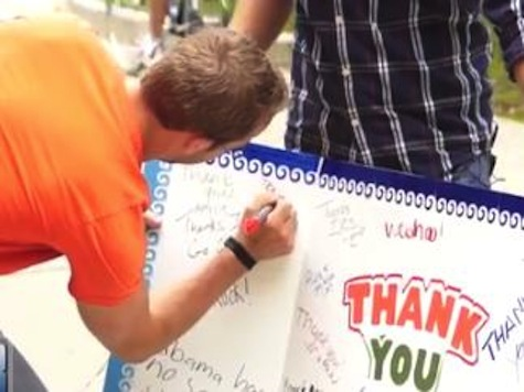 College Kids Sign Card Thanking IRS For Targeting Conservatives