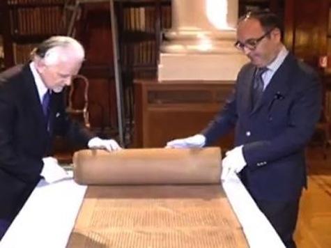 Oldest Known Torah Scroll Displayed