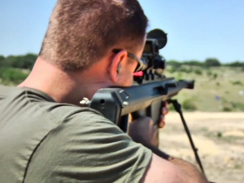 Ex-Army Ranger Makes Standing Shot with .50 Cal at 1,000 Yards