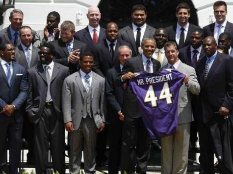 Obama Hosts Super Bowl-Winning Ravens at White House