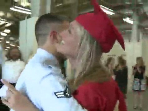 Airman Surprises Sister at High School Graduation