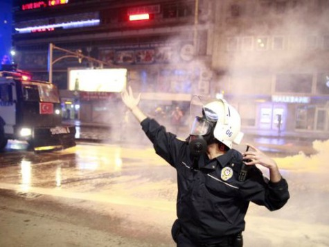 Raw: Turkish Riot Police vs. Protesters