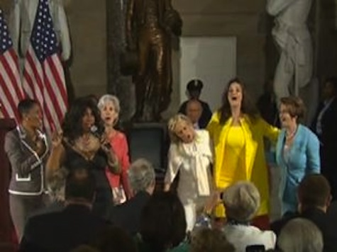 WATCH: Pelosi, Sebelius, Dem Reps Dance For Dingell